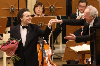 Евгений Кисин и Юрий Темирканов. Фото - Cтанислав Левшин