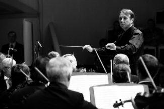 Российский национальный оркестр и его художественный руководитель Михаил Плетнёв. Фото - пресс-служба РНО