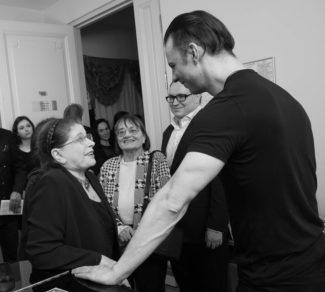 После концерта. Ирина Шостакович и Теодор Курентзис. Фото - Александра Муравьева