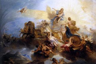 Николя Бертен. Фаэтон на колеснице Аполлона. Ок. 1720. Фото - Musée du Louvre