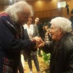 Иври Гитлис и Хаим Тауб после концерта. Фото - Виктор Лихт
