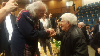 Иври Гитлис и Хаим Тауб после концерта