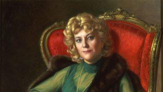 Портрет Елены Образцовой работы Александра Шилова