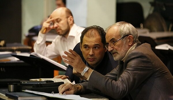 Александр Соловьев, Туган Сохиев и Римас Туминас. Фото - bolshoi.ru