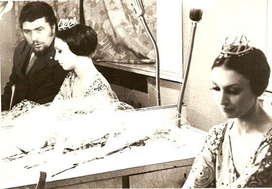 Валентина Ганибалова c мужем Саввой Ямщиковым, 1974 год