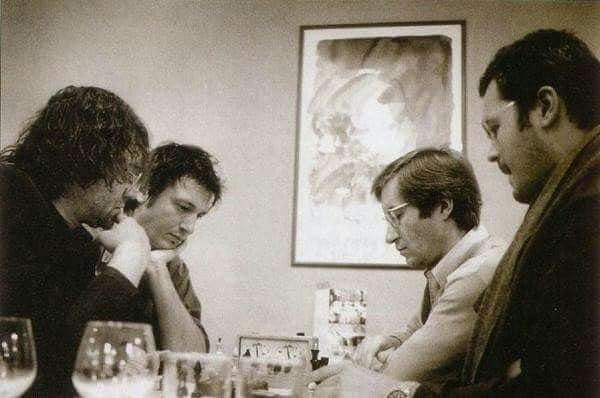 Александр Князев, Борис Березовский, Николай Луганский, Вадим Репин. Нант, 2001 год