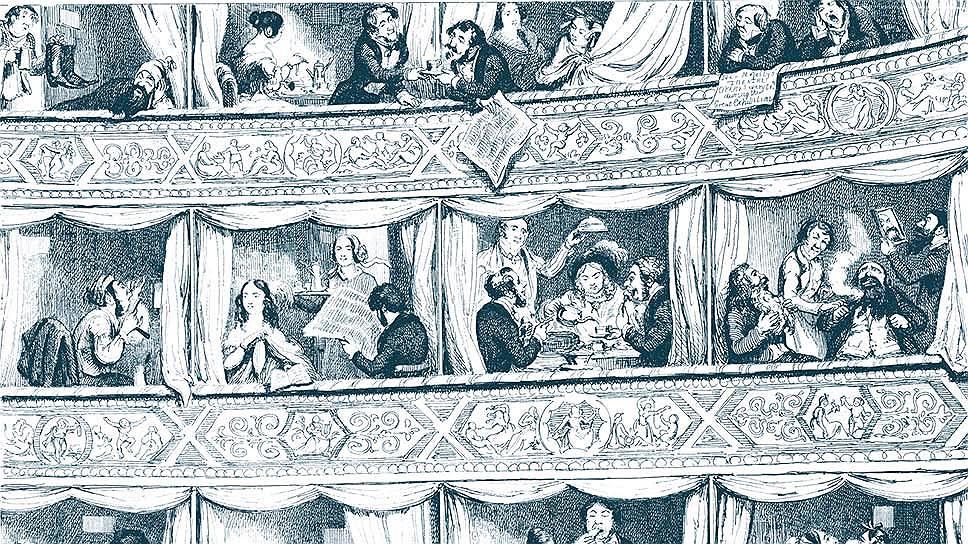 Джордж Крукшанк. «Посетители лондонской Всемирной выставки в оперных ложах», 1851 Фото - DIOMEDIA / Science Museum London