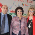 Константин Ишханов, Айман Мусаходжаева и Любовь Казарновская. Фото - VI Мальтийский международный фестиваль