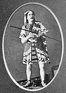 """Мариус Петипа в партии Таора в балете Цезаря Пуни """"Дочь фараона"""", 1862 год"""