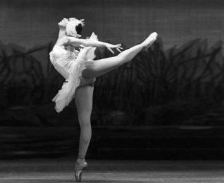 Маргарита Дроздова в роли Одетты-Одиллии в сцене из балета П.И. Чайковского «Лебединое озеро», 1983 год. Фото - Александр Макаров