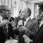 М.Ростропович, Д.Баланчин и Ю.Григорович на приёме в честь гастролей труппы Нью -Йорк Сити балет, 1972 г., Москва