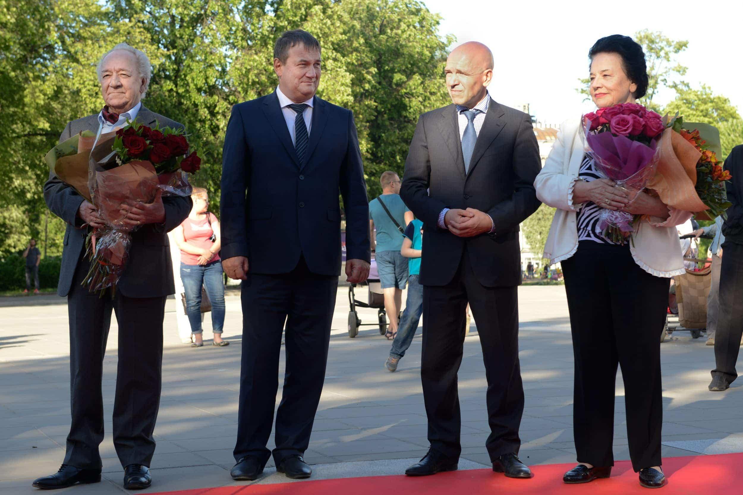 «Аллея звезд» в Петербурге пополнилась именами Юрия Темирканова и Ирины Богачевой