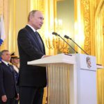 Владимир Путин в Кремле во время инаугурации 7 мая 2018