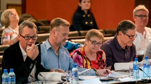 Ольга Капанина в жюри 37-го Бельведерского конкурса (в центре). Фото - Ивар Кезберс