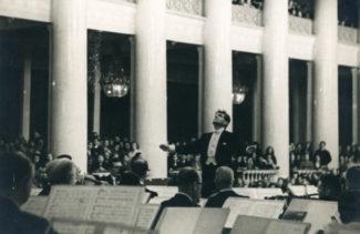 Леонард Бернстайн в Ленинградской филармонии