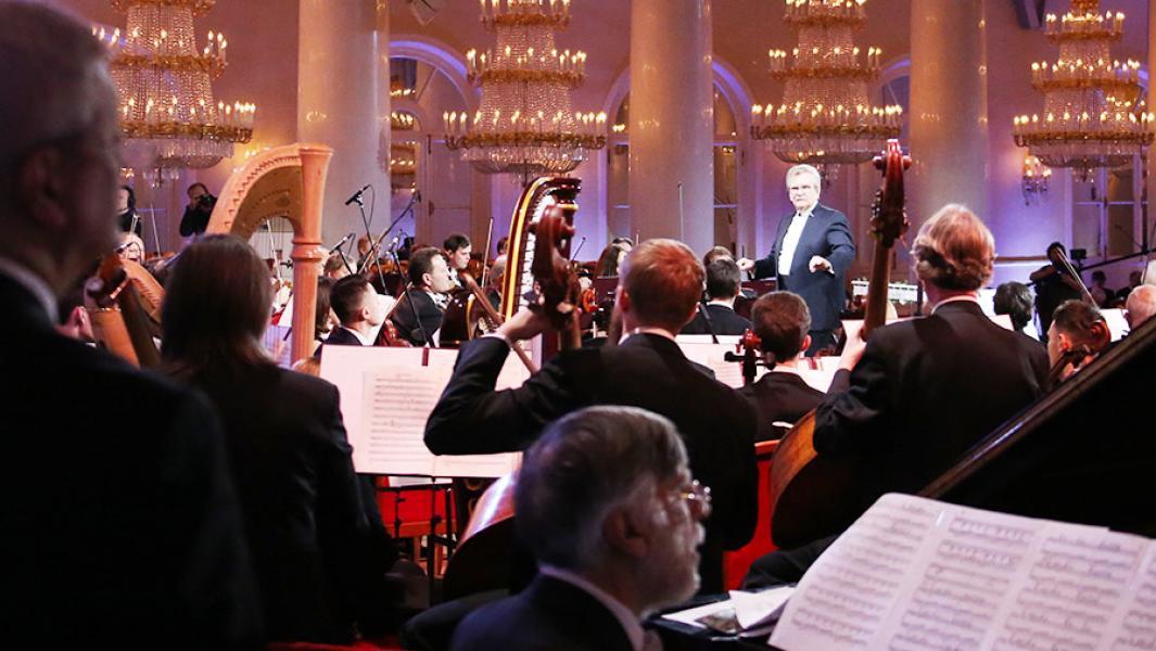 Владимир Федосеев во время концерта в честь своего 85-летия. Фото - ТАСС/Антон Новодережкин