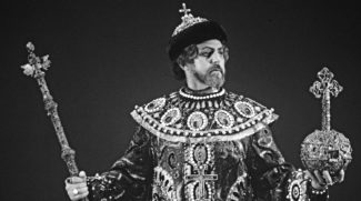 Тео Майсте в роли Бориса Годунова. Фото - Вольдемар Мааск