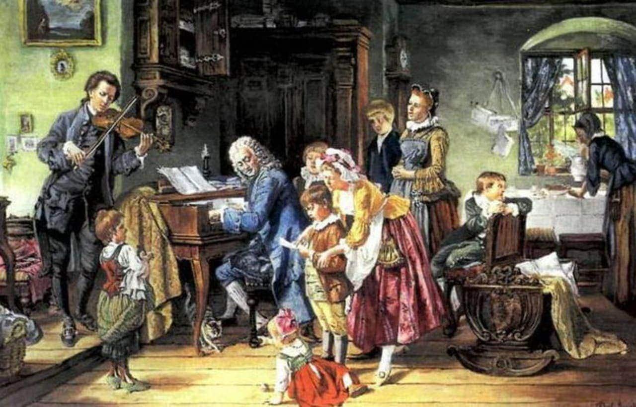 Бах в кругу семьи. Тоби Эдвард Розенталь, 1870