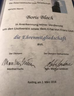 Диплом почётного члена листовского общества в Австрии