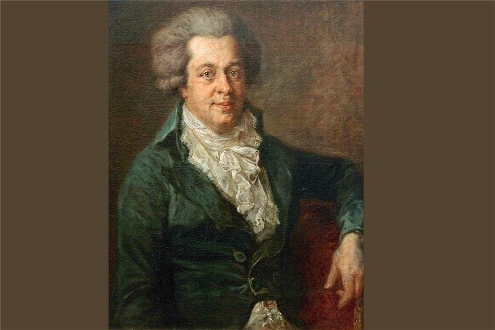 Иоганн Георг Эдлингер, 1790. Вольфганг Амадей Моцарт