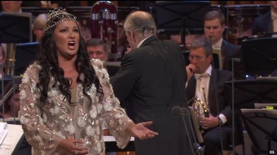 Кадр из трансляции концерта открытия зала «Зарядье», 2018 год. Фото - medici.tv