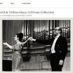 Коллекция вещей и предметов искусства Ростроповича и Вишневской уйдет с молотка в Лондоне