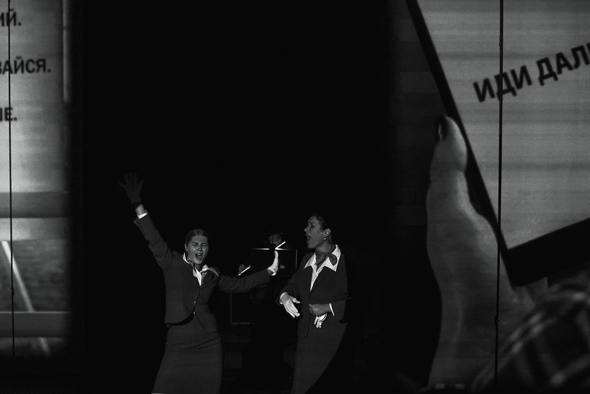 "Сцена из оперы Александра Маноцкого ""52"". Фото - А. Брюханова"