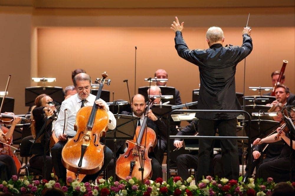 "Александр Рудин, Томас Цетмайр и оркестр ""Musica viva"". Фото - Ольга Кузнецова"