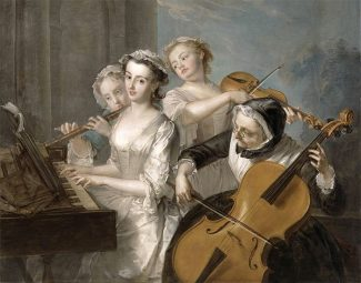 Чувство слуха. Филипп Мерсье. 1744-1747 годы