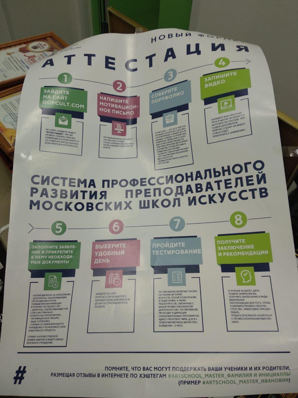 Информационная листовка о новом формате аттестации педагогов и концертмейстеров ДШИ