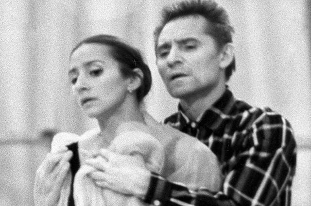 Юрий Григорович и Наталия Бессмертнова во время репетиции, 1977 год