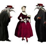 Эскизы костюмов к постановке оперы Александра Вустина «Влюбленный дьявол» в МАМТ