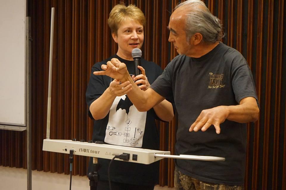 Лидия Кавина на мастер-классе в Сантьяго в 2018 году