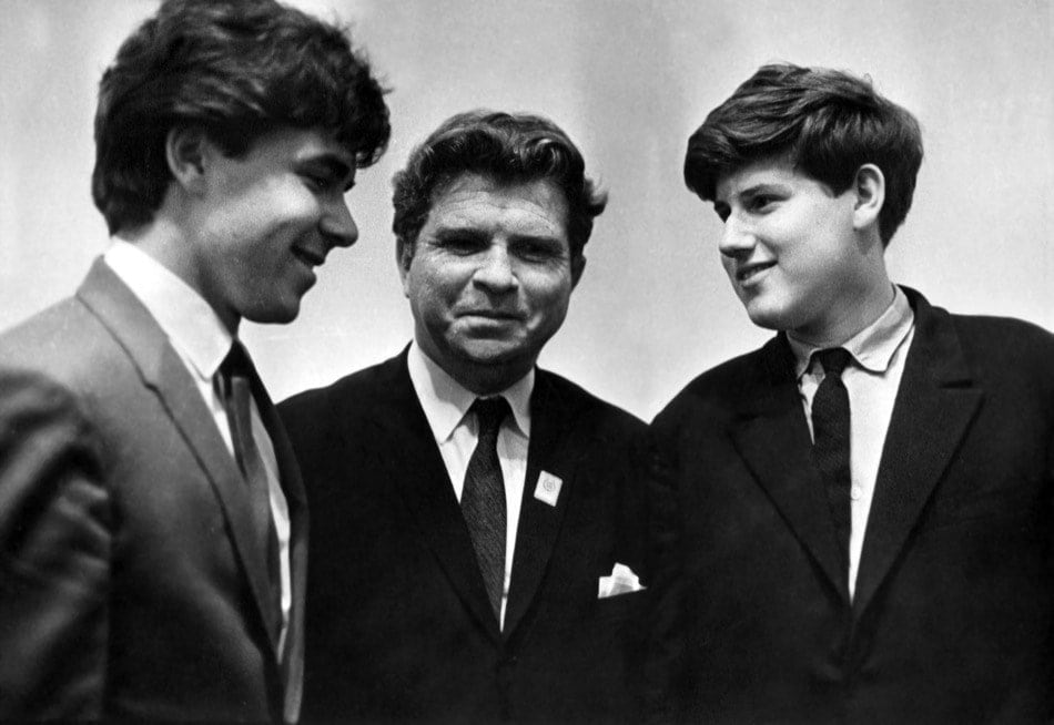 Миша Дихтер, Эмиль Гилельс и Григорий Соколов, 1966 год