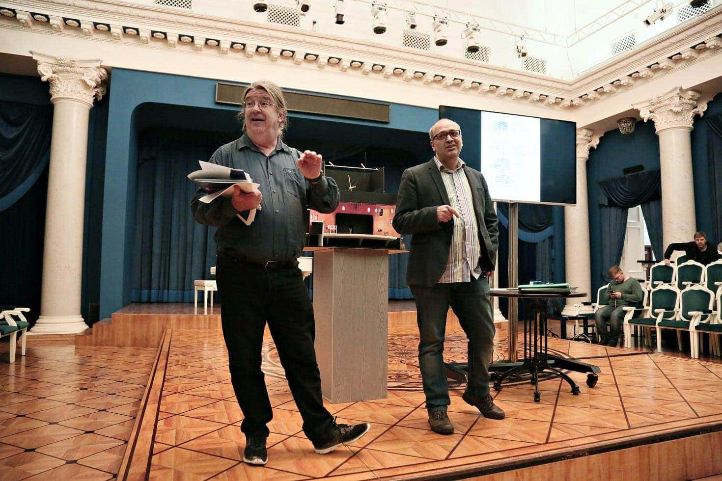 Эндрю Лоуренс-Кинг и Георгий Исаакян. Фото - Ирина Шымчак