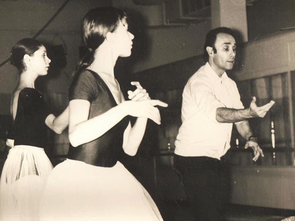 Пьер Лакотт на репетиции в Новосибирске