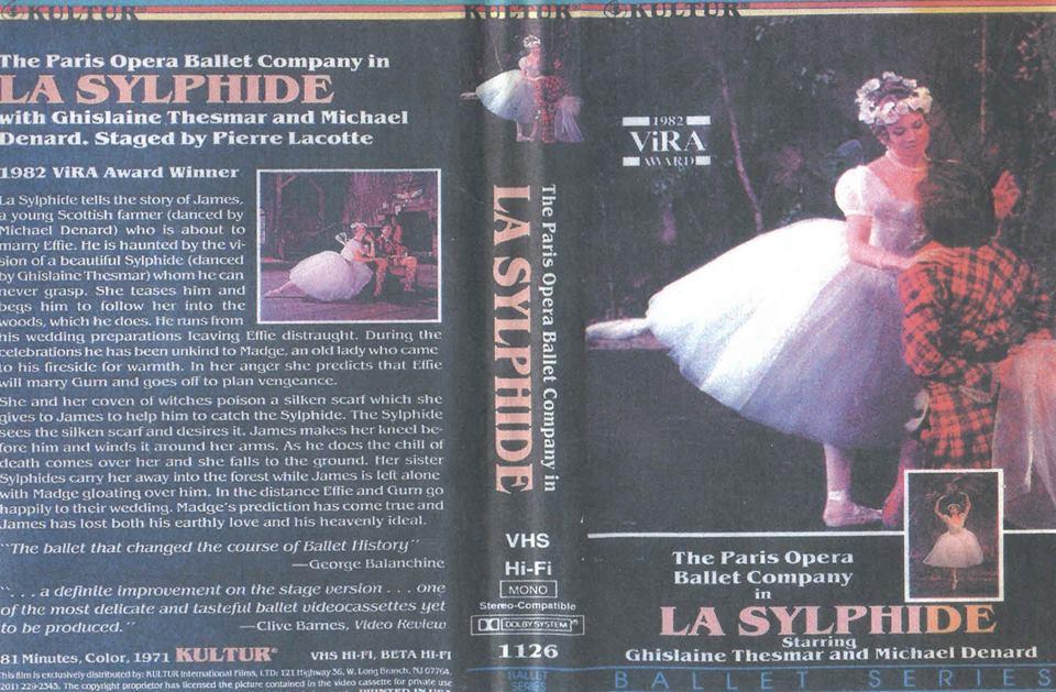 """Обложка кассеты с записью фильма-балета """"Сильфида"""" в постановке Пьера Лакотта 1971 года"""