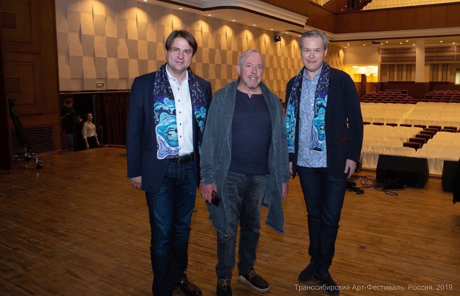 Олег Белый, Андрей Макаревич, Вадим Репин. Фото - Александр Иванов