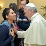Светлана Касьян и папа Римский Франциск