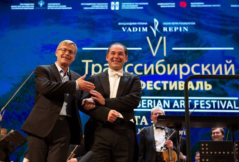 Борис Лисицин и Туган Сохиев на Транссибирском арт-фестивале