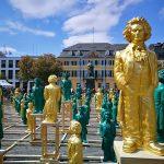Скульптурные копии Бетховена в Бонне. Инсталляция художника Оттмара Хёрля