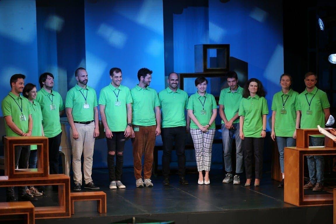 """Участники конкурса """"Нано-опера"""" - 2019 во время жеребьевки"""