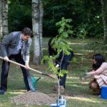 Члены жюри XVI Конкурса посадили новые деревья