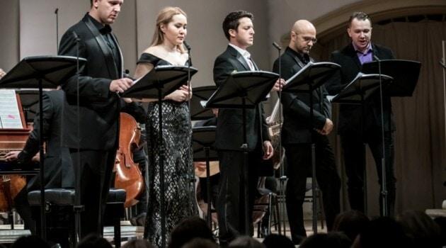 Концертное исполнение оперы Леонардо Винчи «Сигизмунд, король Польши» прошло на сцене Зала имени Чайковского. Фото – Ira Polyarnaya/Opera Apriori