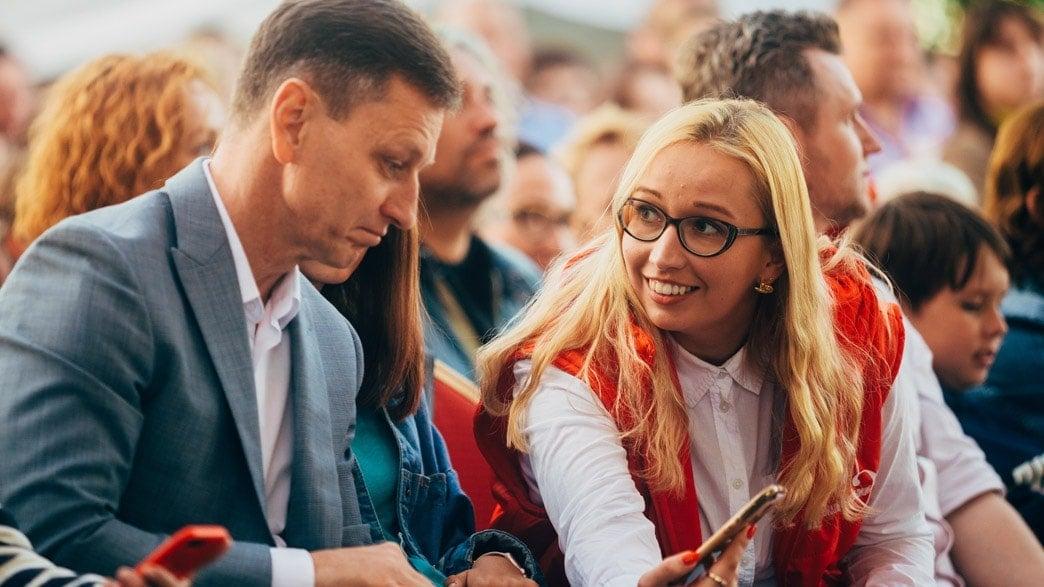 Губернатор Владимирской области Владимир Сипягин и директор регионального департамента культуры Алиса Бирюкова
