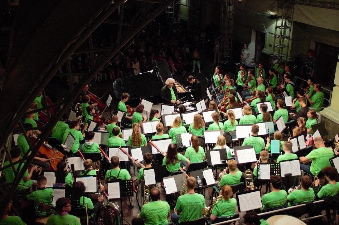 Симфонический оркестр «Летней школы в Гнесинке». Фото - Екатерина Ключникова