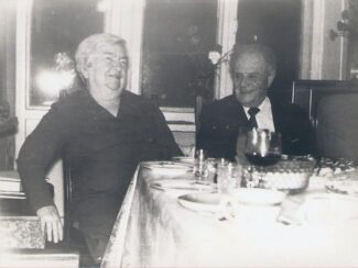 Анна Михайловна Мандель и Мирон Александрович Ратинер. 1988 год