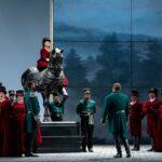 """Сцена из оперы Верди """"Луиза Миллер"""" в Чикагской лирической опере. Алиса Колосова, Джозеф Каллейя. Фото - Shelby Homiston (Lyric Opera, Chicago)"""
