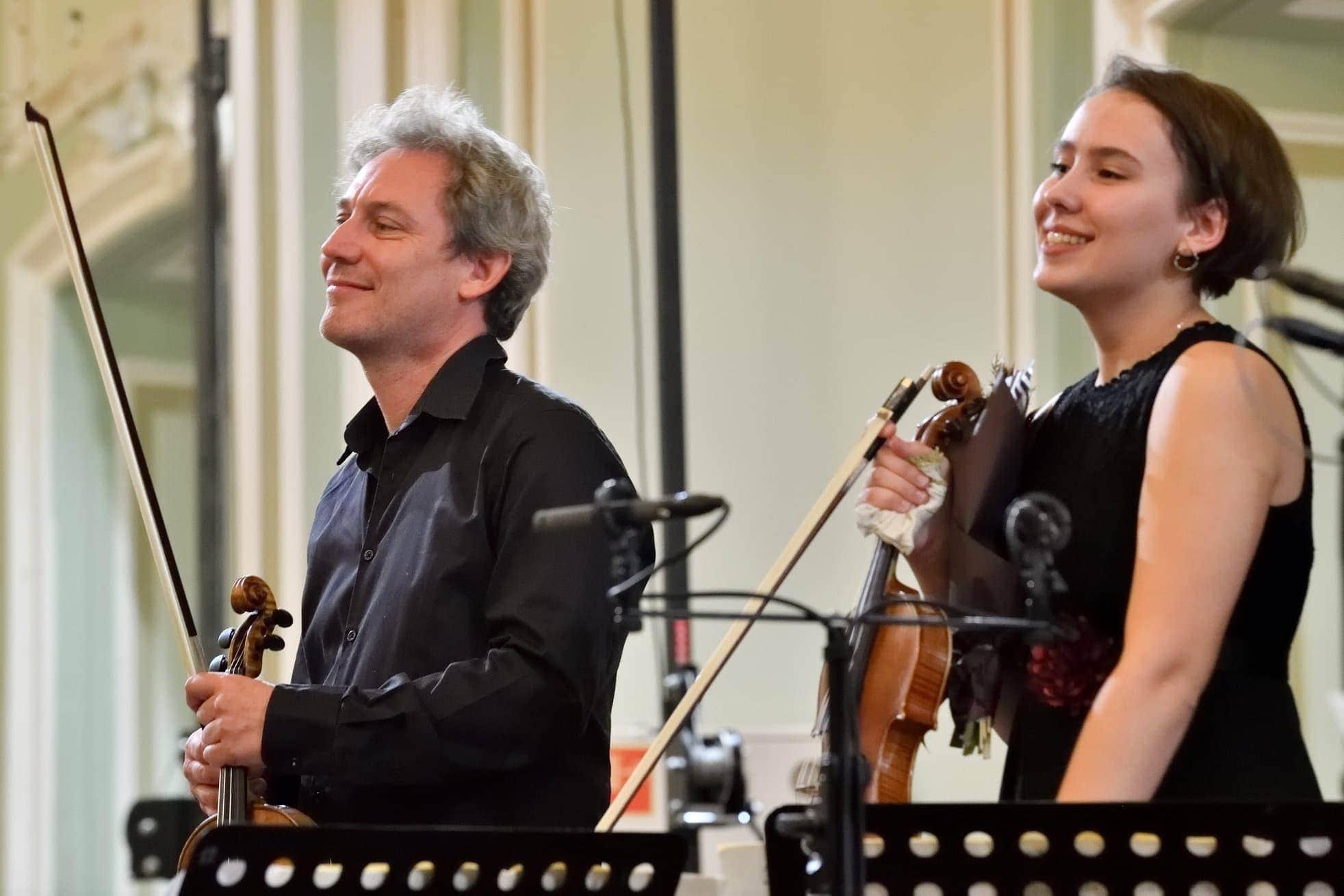 Давид Грималь и Полина Сенатулова. Фото - Ирина Туминине