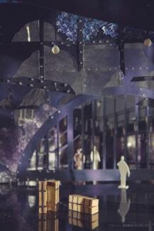 Макет декораций спектакля «Анна Каренина» в Большом театре Беларуси. Фото - Anika Nedelko